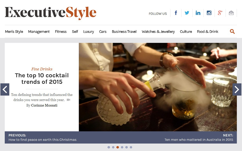 Cocktails & Bars on Executive Style
