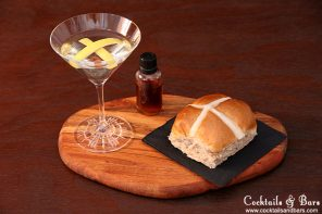Easter Cocktail Recipes: Cold Cross Bun Martini